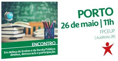 Porto: Encontro em Defesa do Ensino e da Escola Pública