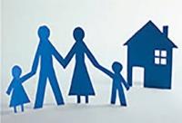 imagem de família e casa