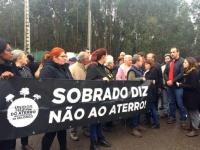 Protesto contra o aterro de Sobrado, em Valongo.